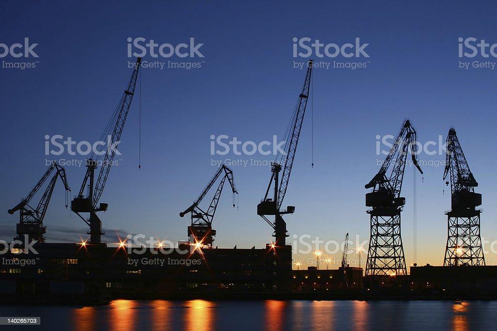 Helsinki shipyard stock photo