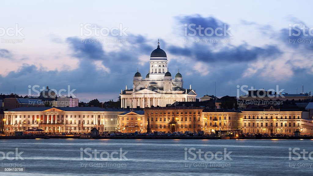 Helsinki Skyline stock photo