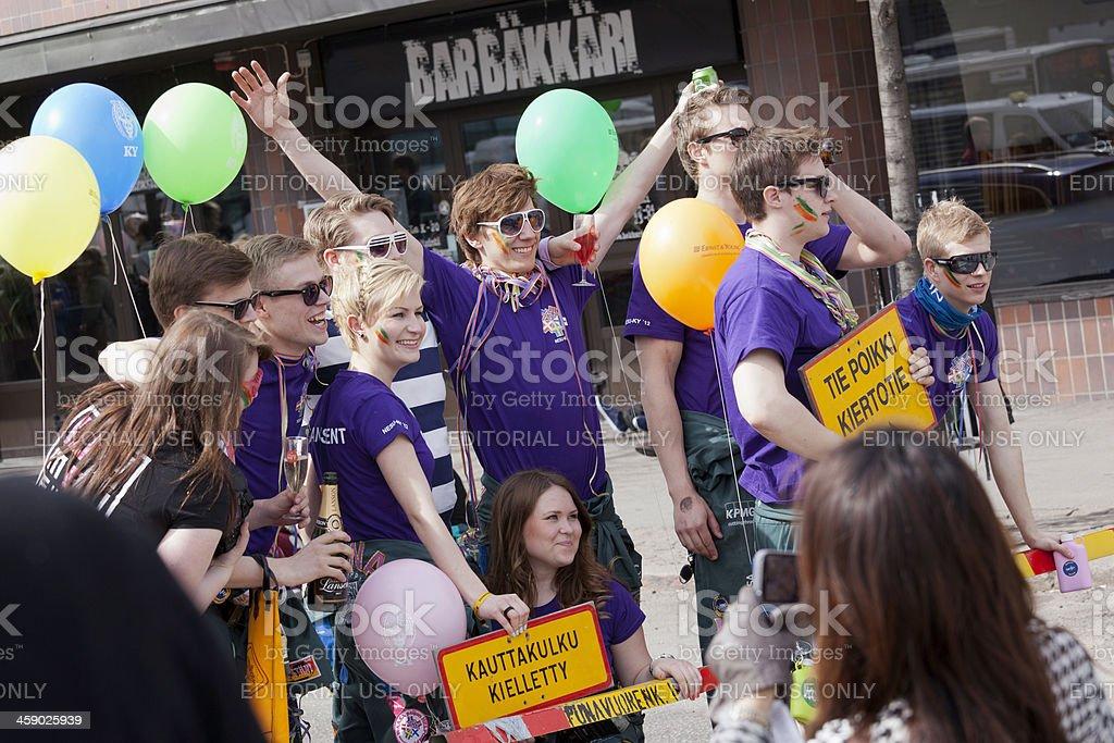 Helsinki students stock photo