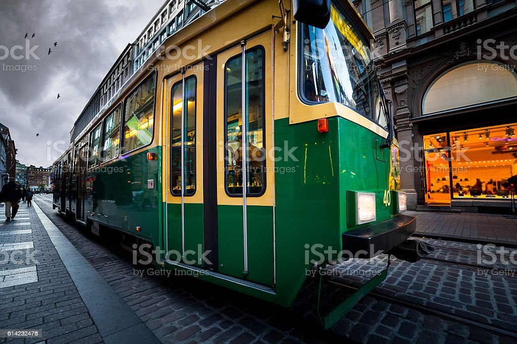 Helsinki tram stock photo