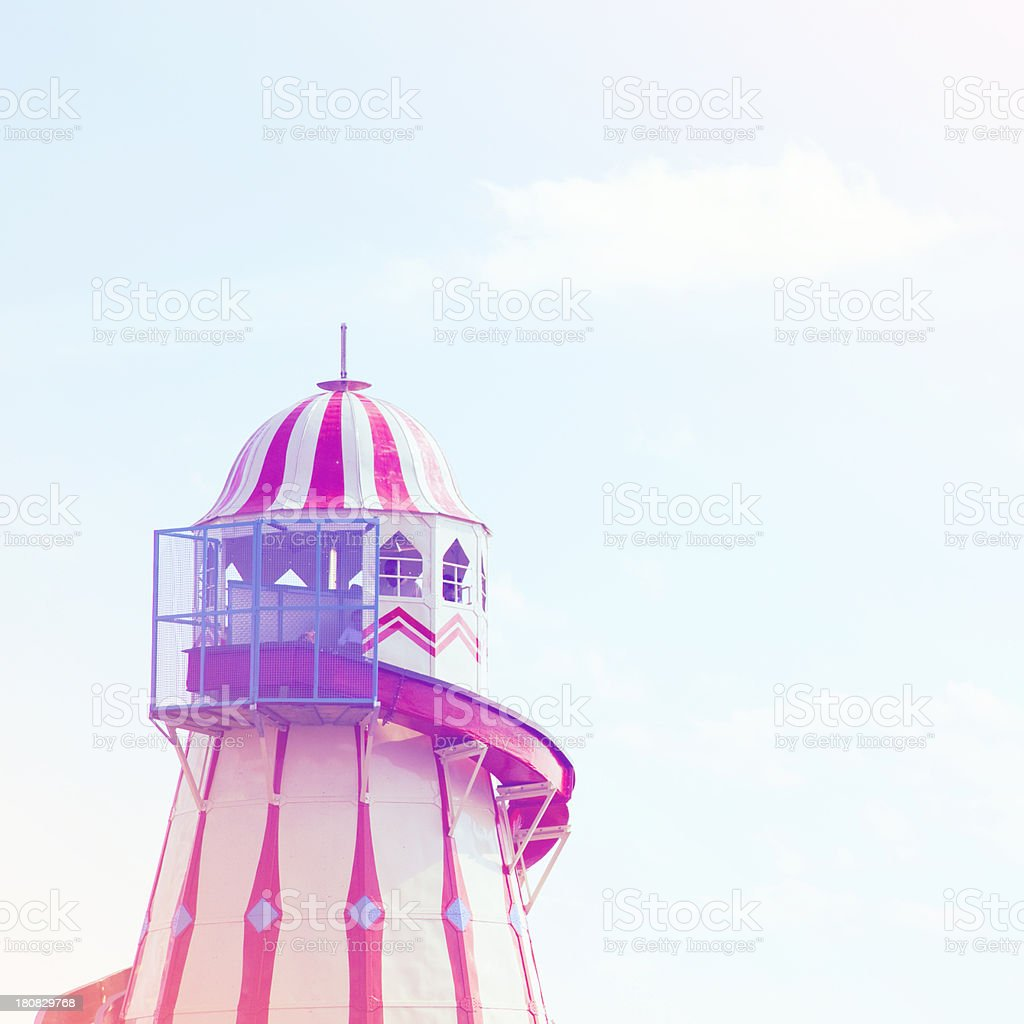Helter skelter at the Fun fair stock photo