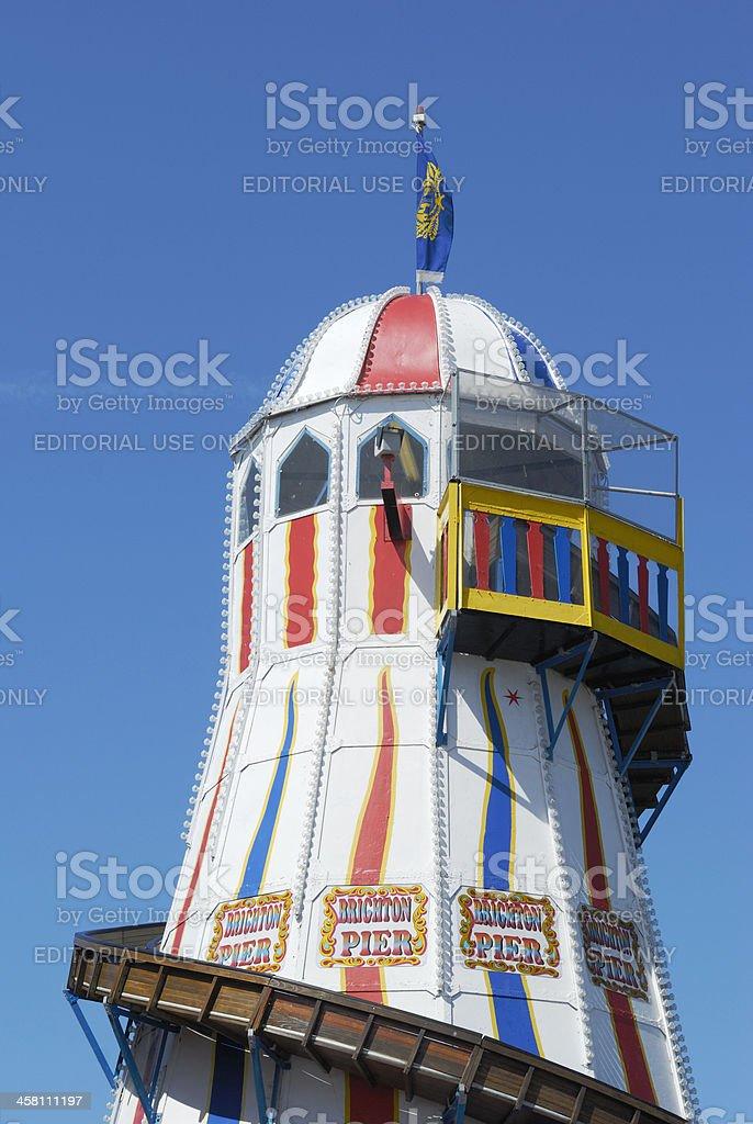 Helter skelter slide on Brighton Pier. Sussex. England stock photo