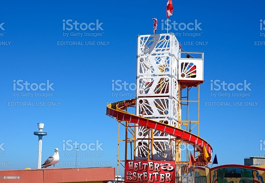 Helter Skelter, Weymouth. stock photo