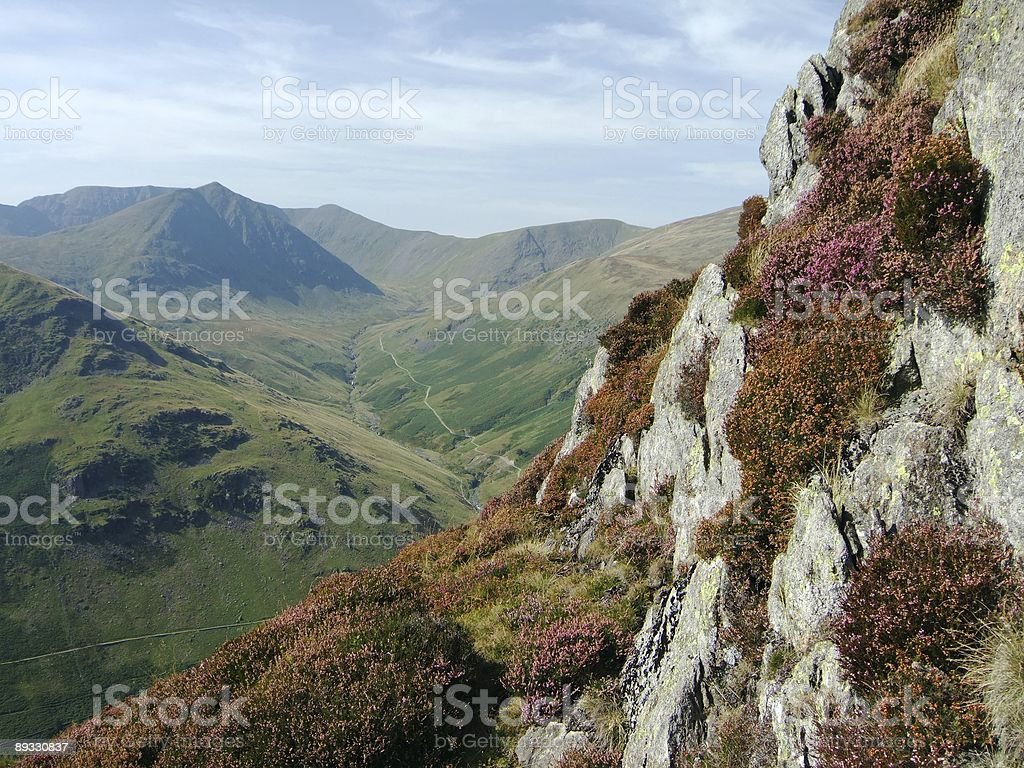 Helvellyn & Catstyecam from Shefield Pike royalty-free stock photo