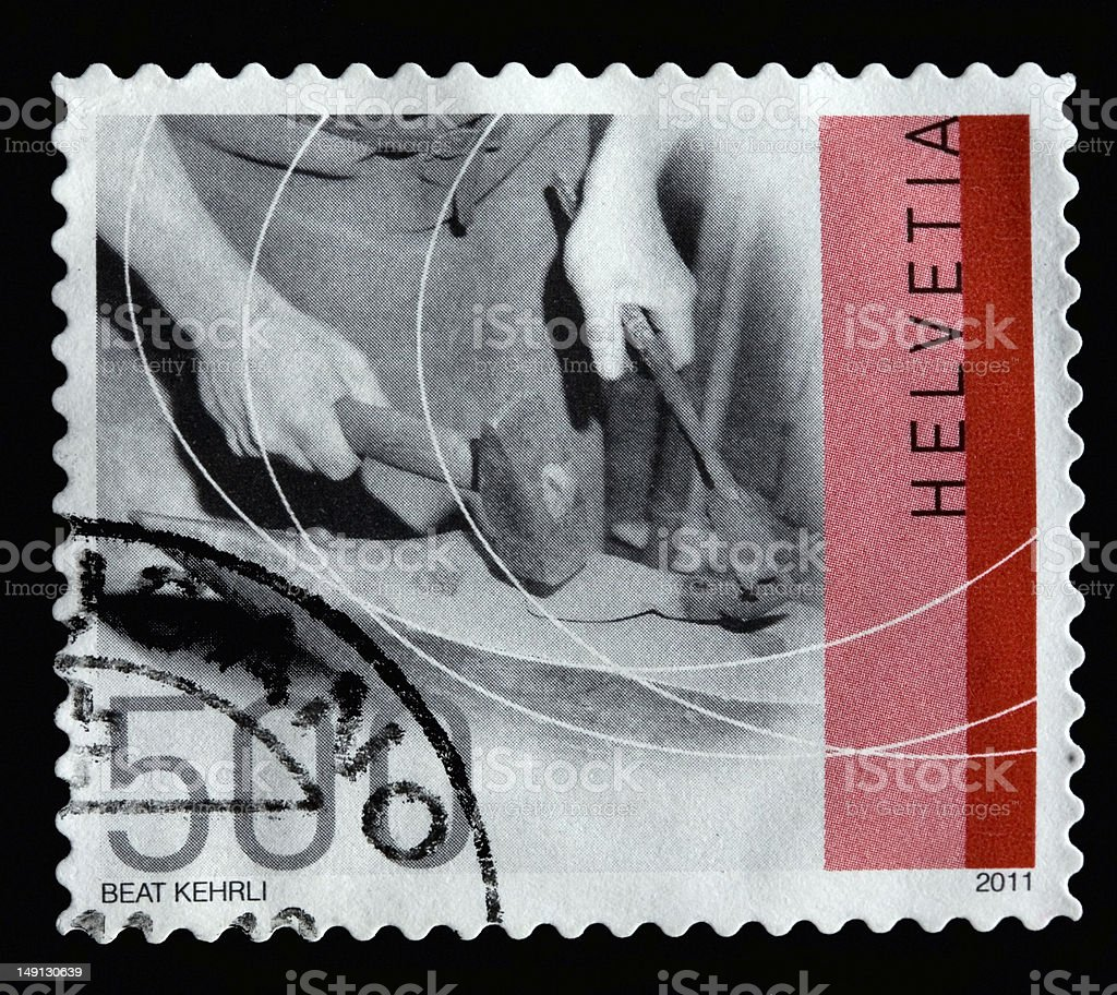 Helvetia postage stamp 500 cents royalty-free stock photo