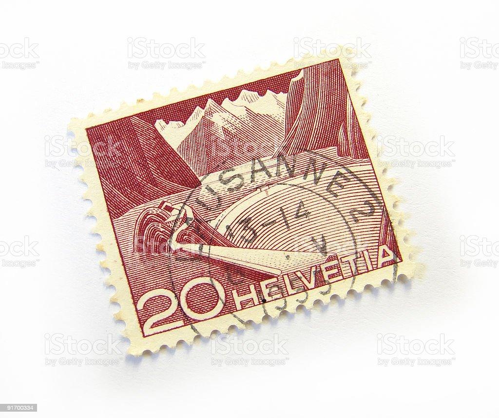Helvetia Stamp stock photo