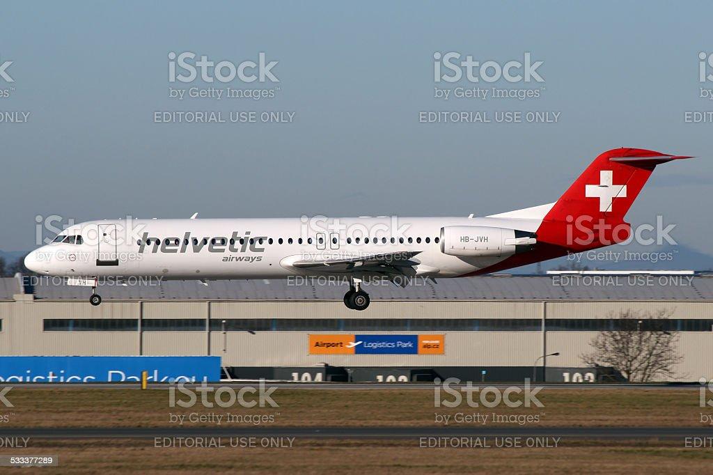 Helvetic Airways stock photo