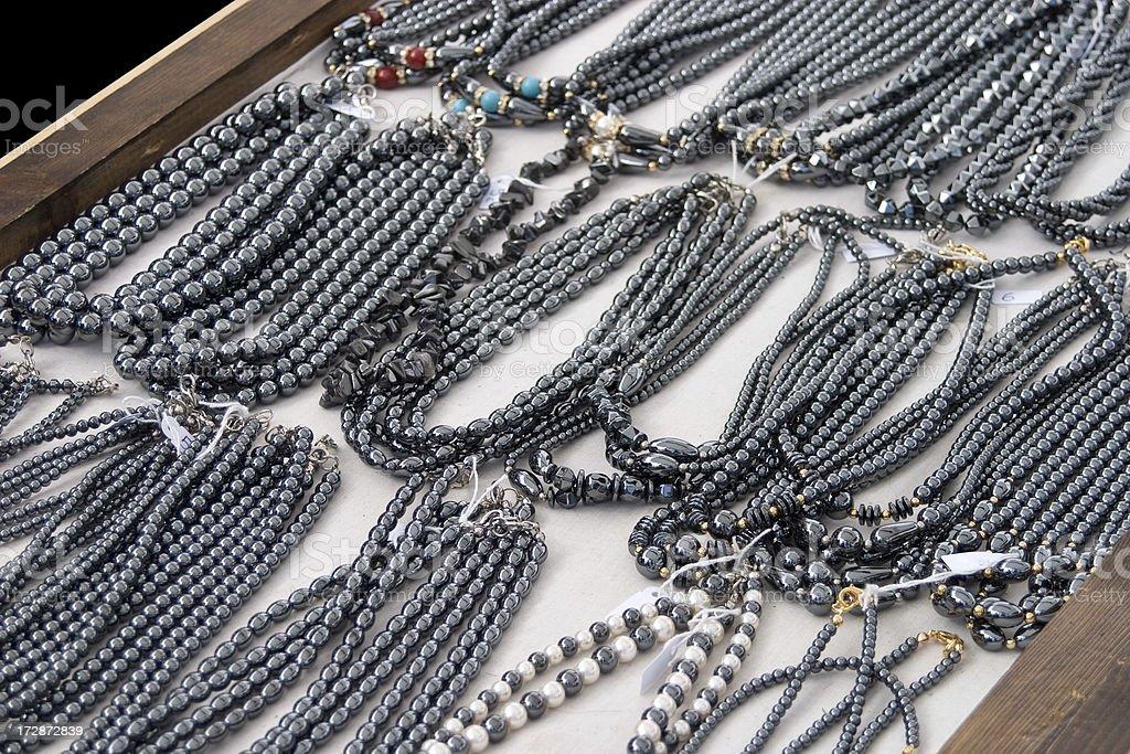 hematite beads necklace jewel royalty-free stock photo