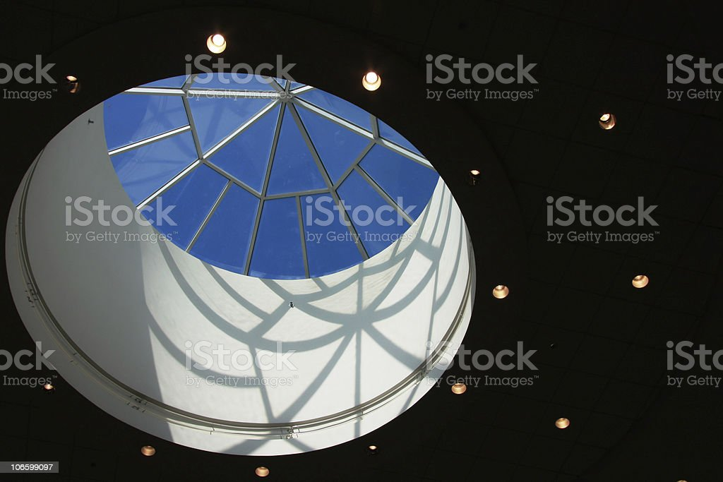 Hemisphere skylight on the roof royalty-free stock photo