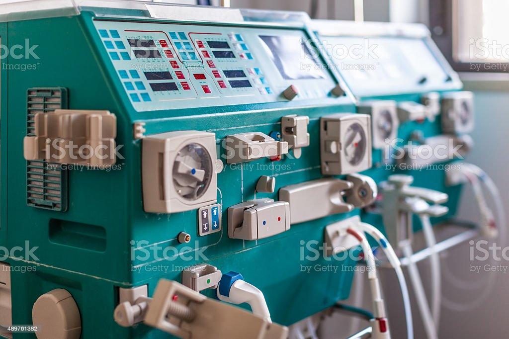 hemodialysis device stock photo