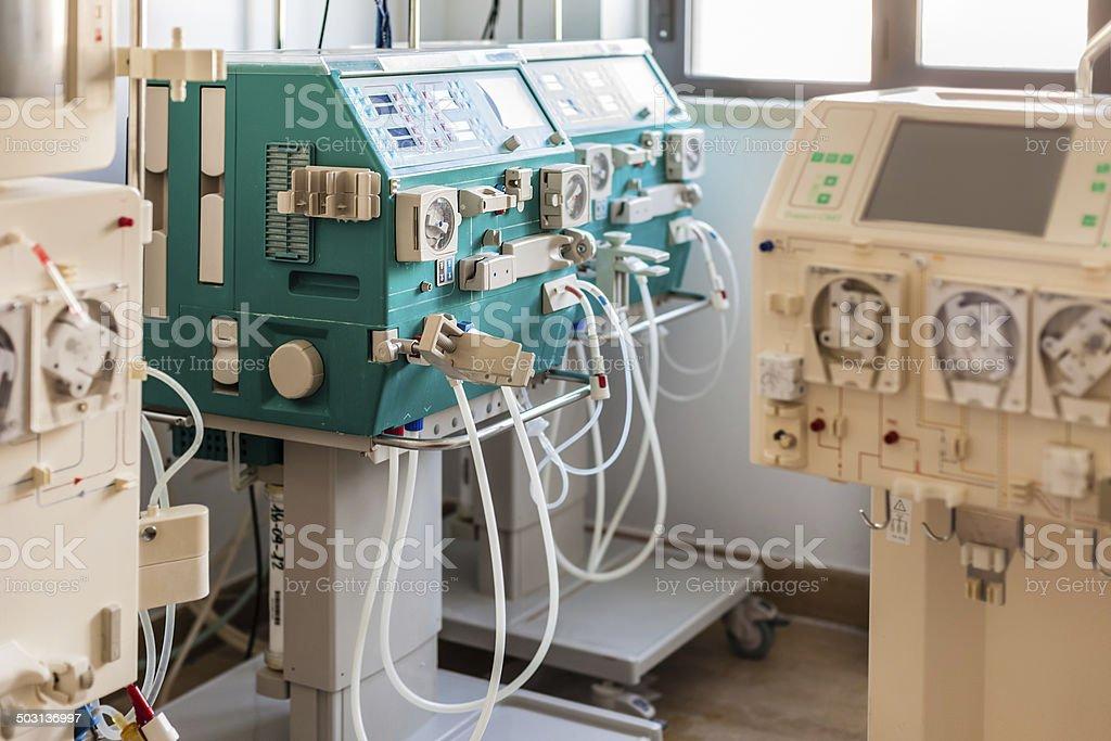 hemodialysis ward stock photo