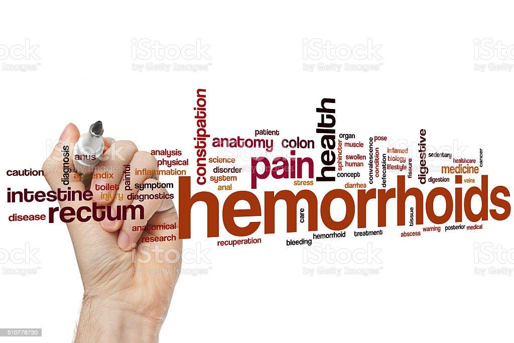 Hemorrhoids word cloud stock photo
