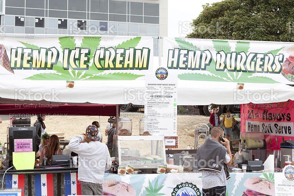 Hemp Ice Cream & Burgers at Hempfest royalty-free stock photo