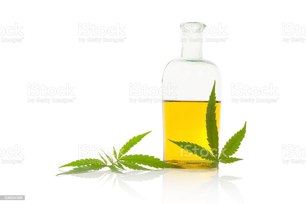 Hemp oil. stock photo