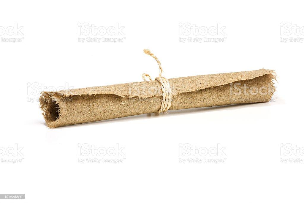 Hemp paper scroll stock photo