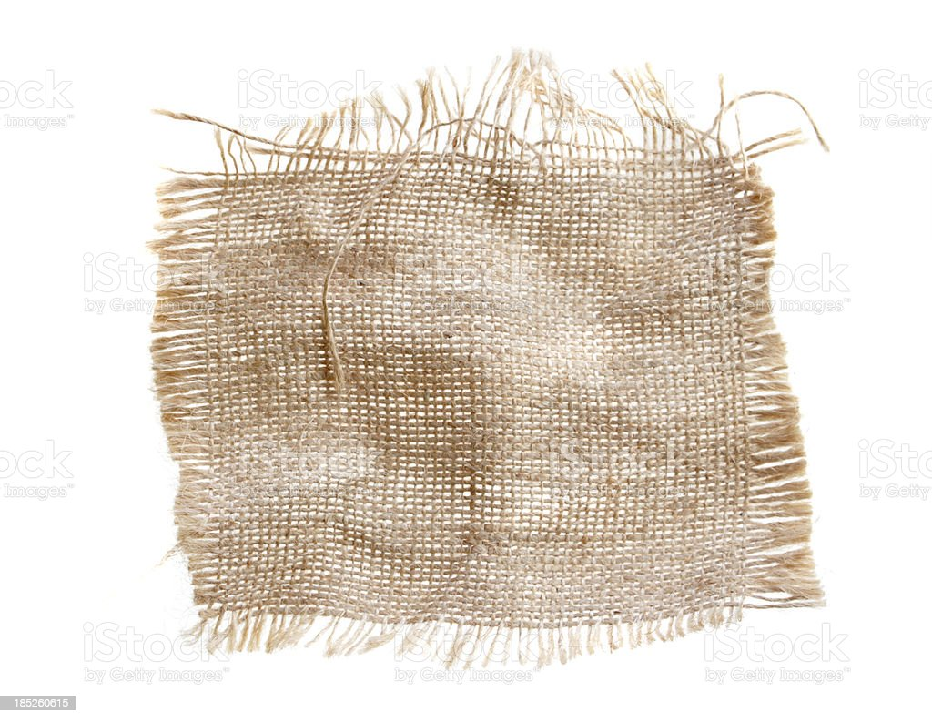 Hemp textile burlap stock photo