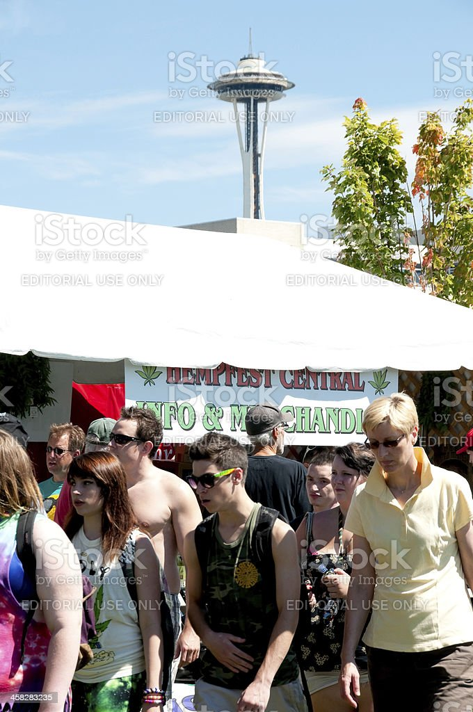 Hempfest Central royalty-free stock photo
