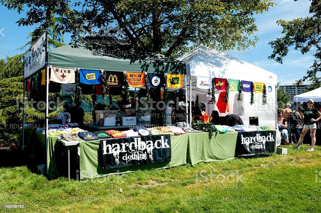 Hempfest Vendors royalty-free stock photo