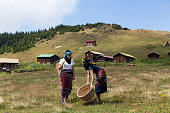 Hemsin women wearing traditional dress