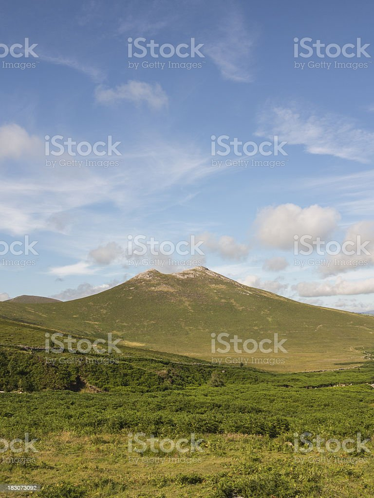 Hen mountain in the Mournes Ireland stock photo