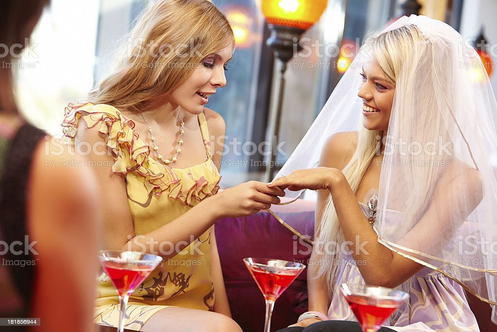 Hen party at restaurant royalty-free stock photo