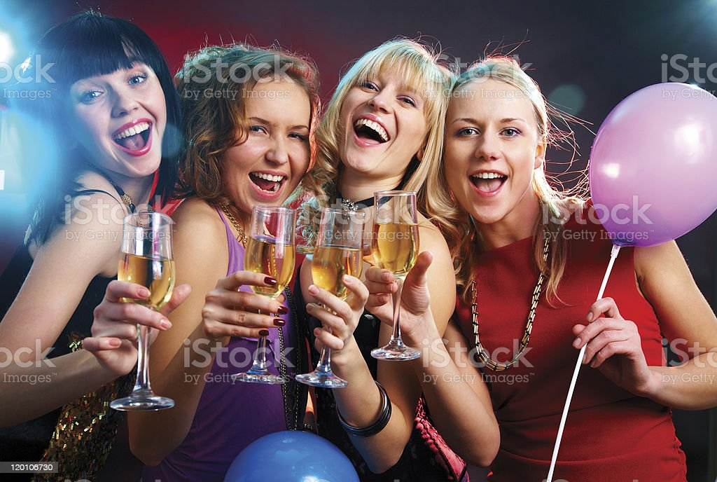 hen party royalty-free stock photo