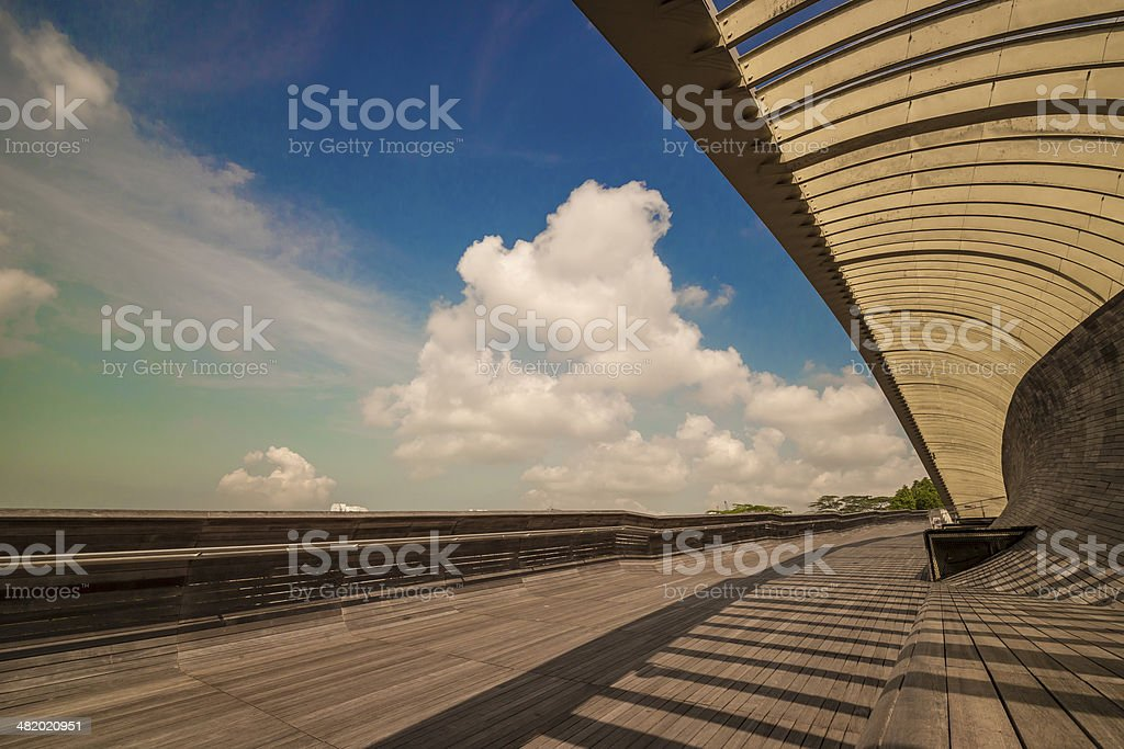 Henderson Wave Bridge stock photo