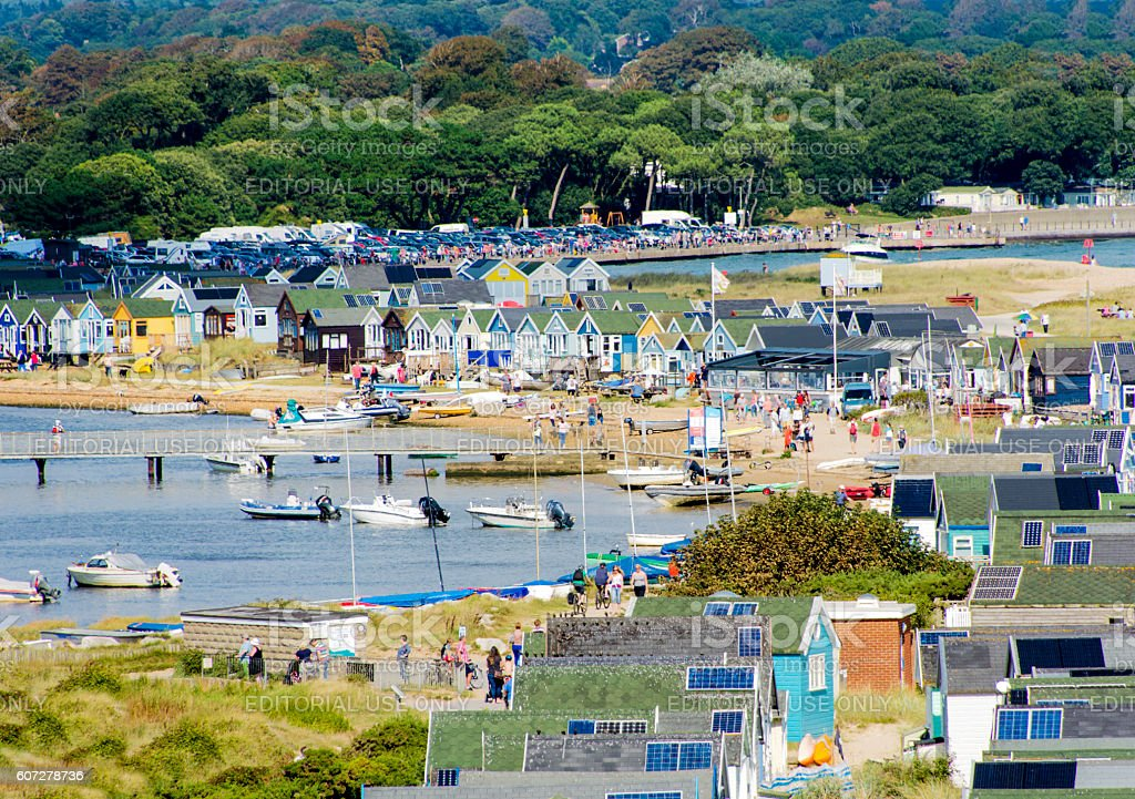 Hengistbury Head and Mudeford Scene stock photo