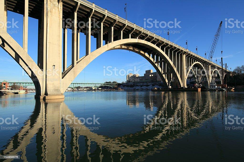 Henley Street Bridge Knoxville, TN stock photo