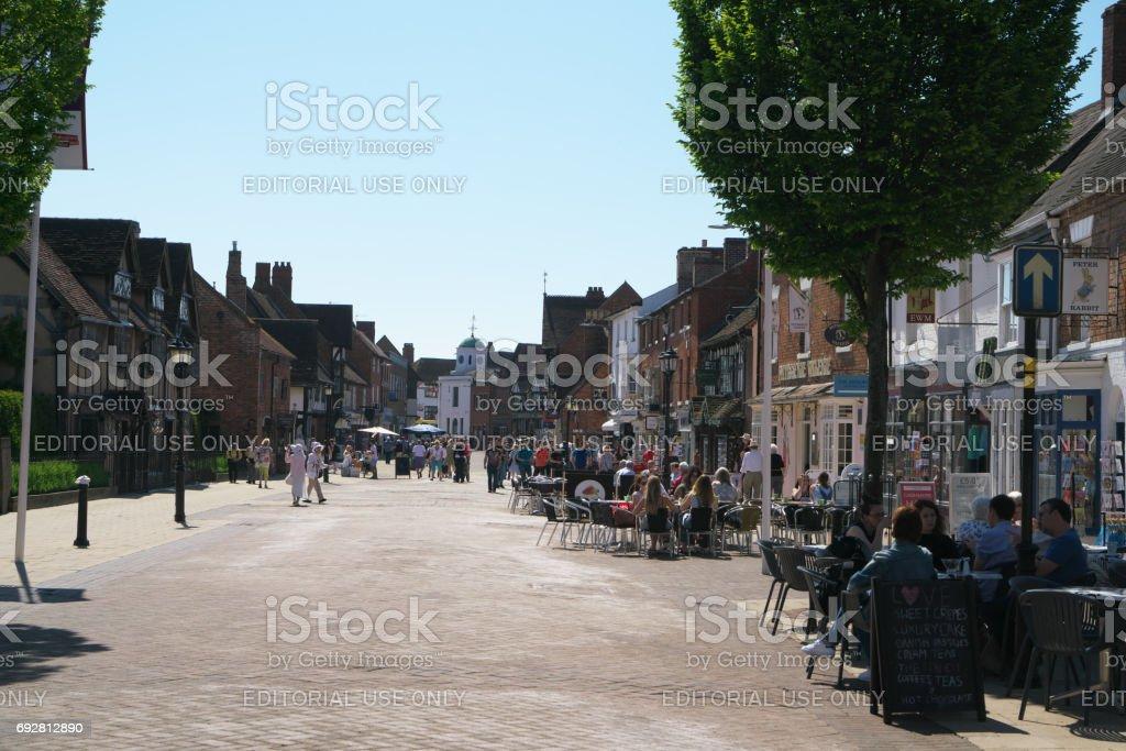 Henley street of Stratford-upon-Avon stock photo