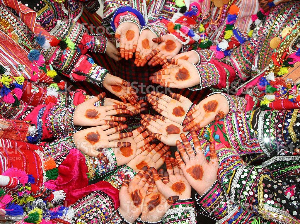 Mãos de hena foto royalty-free