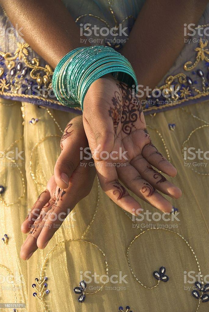 Henna Hands royalty-free stock photo