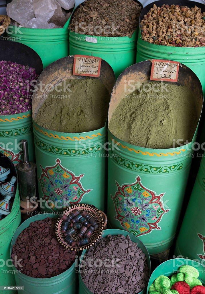 Henna, Marrakesh Souk, Morocco stock photo
