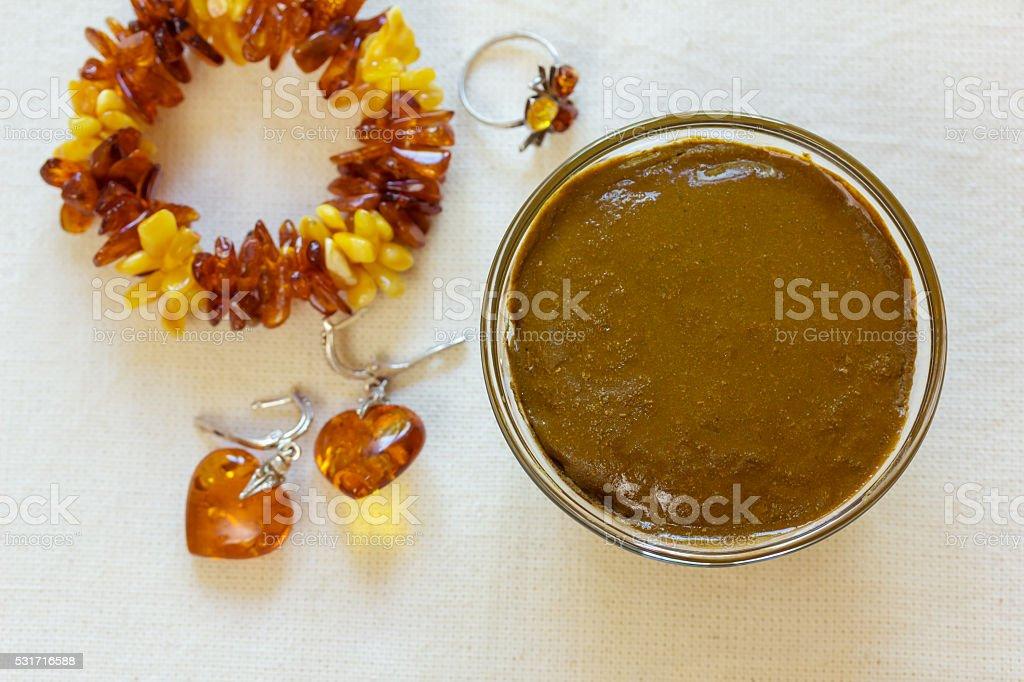 Henna paste. Prepare the henna paste at home. stock photo