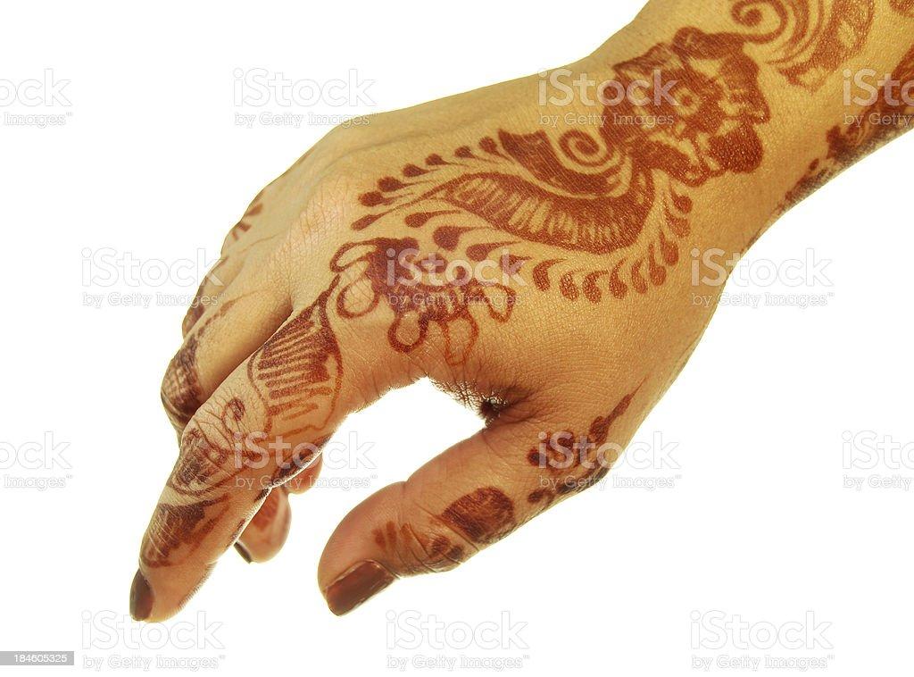 Henna(Mehandi) stock photo