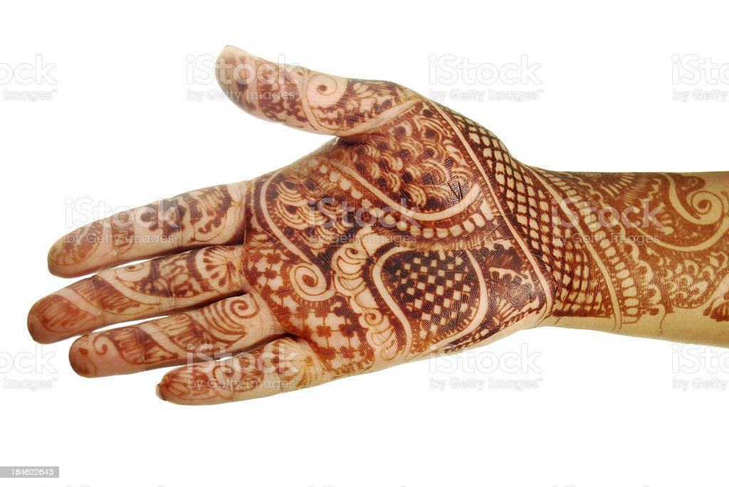 Henna (Mehandi) stock photo