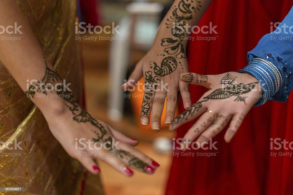 Henna tattoos stock photo