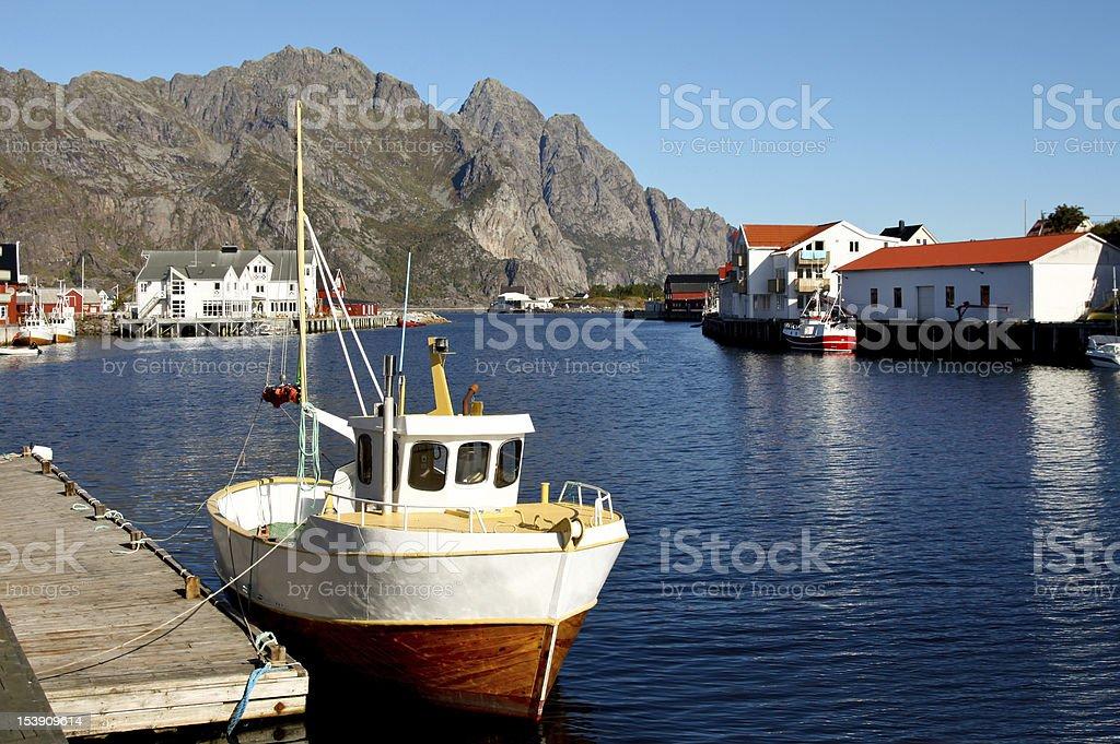 Henningsvaer in Lofoten, Norway royalty-free stock photo