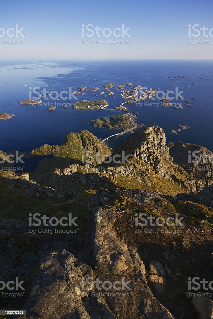 Henningsvaer in Norway royalty-free stock photo