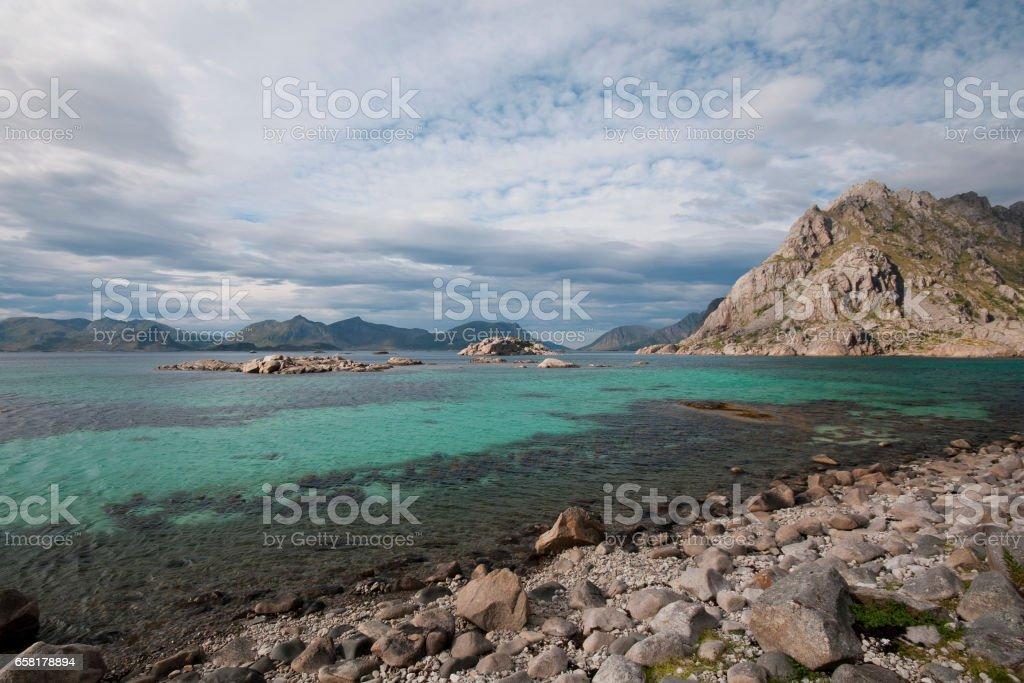 henningsvaer landscape stock photo