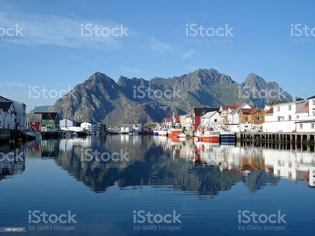 Henningsvaer, Lofoten royalty-free stock photo