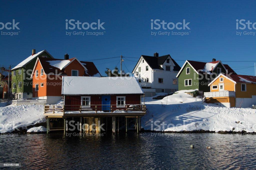 Henningsvaer, Norway stock photo