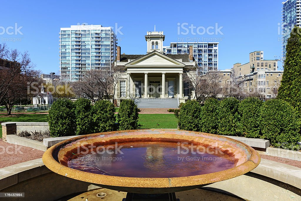Henry B. Clarke House and Garden in Chicago stock photo