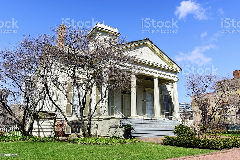 Henry B. Clarke House in Chicago stock photo