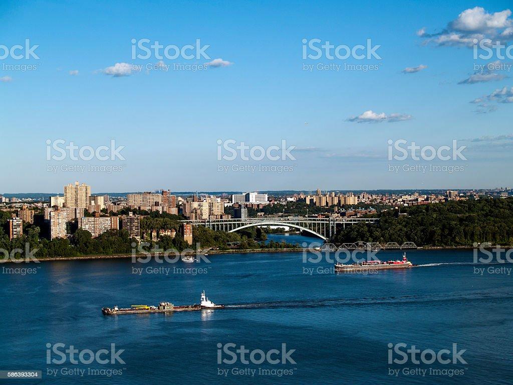 Henry Hudson Bridge, New York stock photo