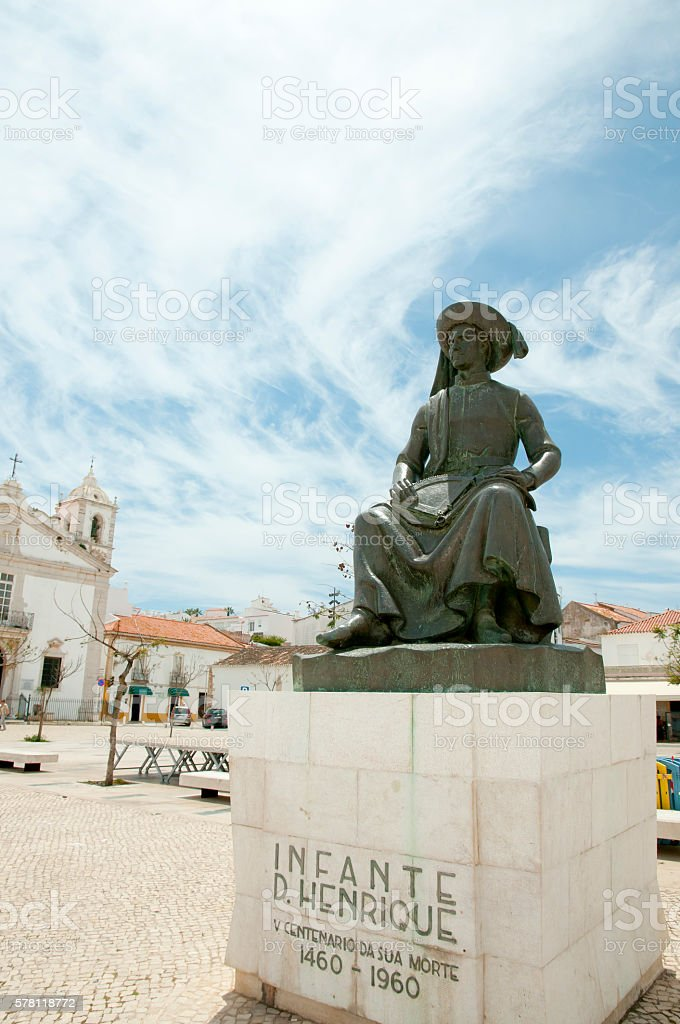 Henry the Navigator Statue - Lagos - Portugal stock photo