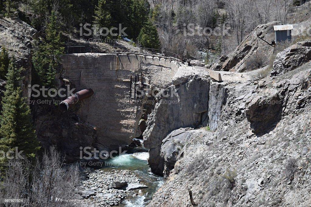 Henson Creek Dam stock photo
