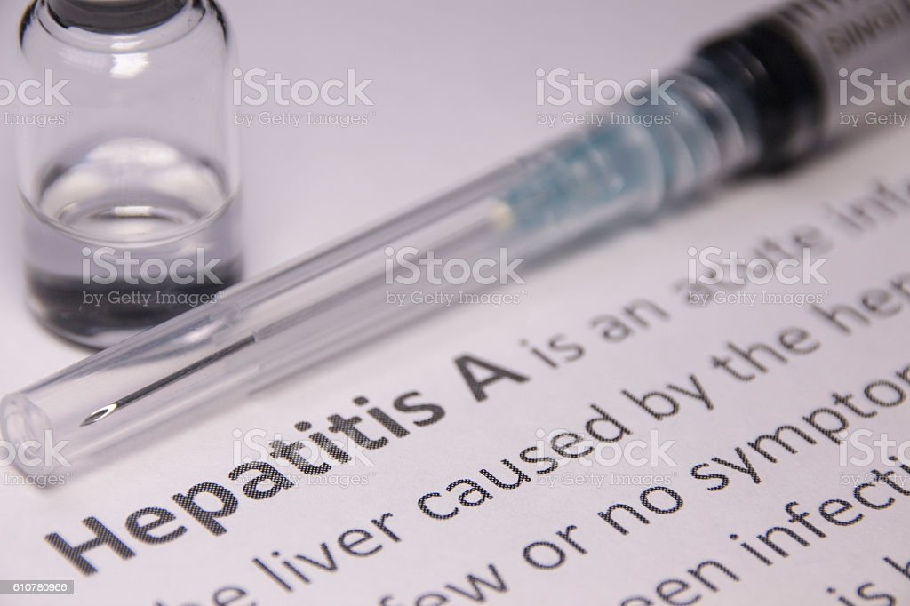 Hepatitis A Vaccine stock photo