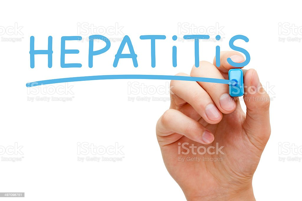 Hepatitis Blue Marker stock photo