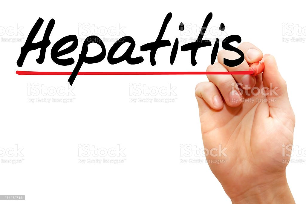 Hepatitis stock photo